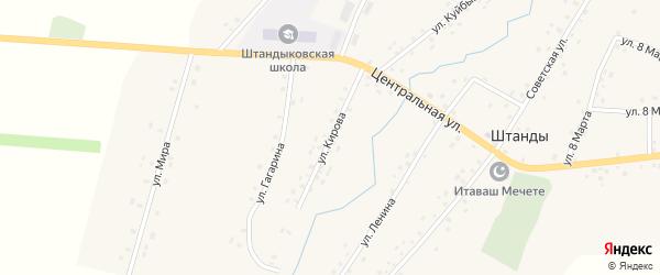 Улица Кирова на карте деревни Штанд с номерами домов