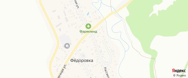 Рассветная улица на карте села Федоровки с номерами домов