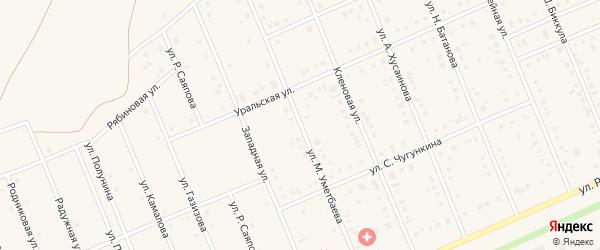Улица М.Уметбаева на карте села Кармаскалы с номерами домов