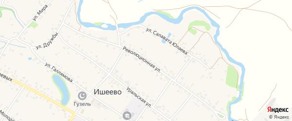 Революционная улица на карте села Ишеево с номерами домов