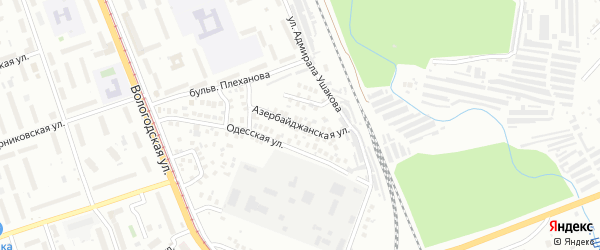 Азербайджанская улица на карте Уфы с номерами домов