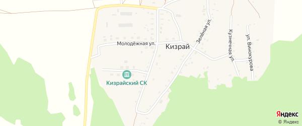 Кленовая улица на карте деревни Кизрая с номерами домов