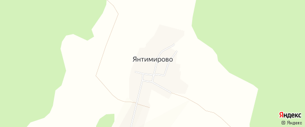 Карта деревни Янтимирово в Башкортостане с улицами и номерами домов