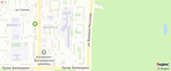 Улица Валерия Лесунова на карте Уфы с номерами домов