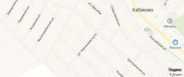 Улица Чернышевского на карте деревни Кабаково с номерами домов