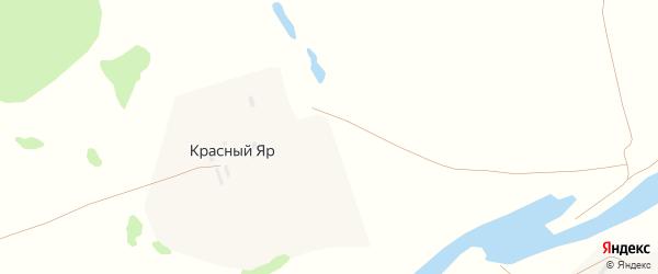 Центральная улица на карте хутора Красного Яра с номерами домов