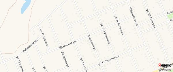 Уральская улица на карте села Кармаскалы с номерами домов