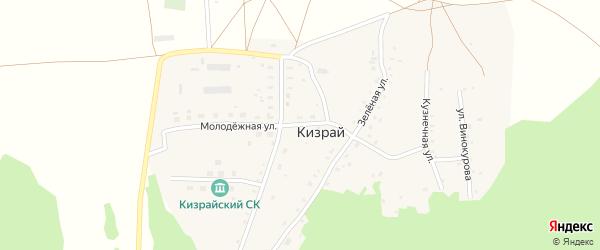 Молодежная улица на карте деревни Кизрая с номерами домов
