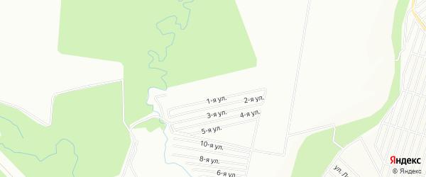 СНТ Росинка на карте Уфимского района с номерами домов