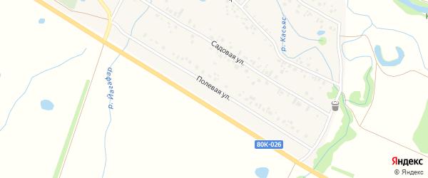 Полевая улица на карте села Ишеево с номерами домов
