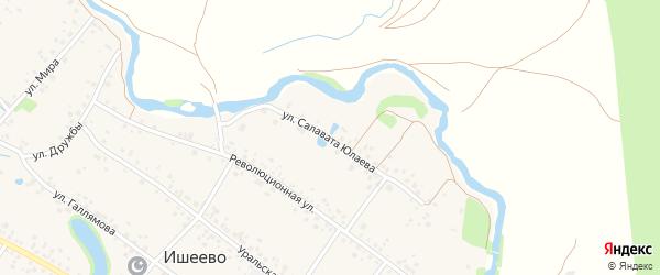 Улица Салавата Юлаева на карте села Ишеево с номерами домов