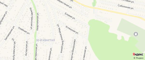 Успешная улица на карте села Нагаево с номерами домов