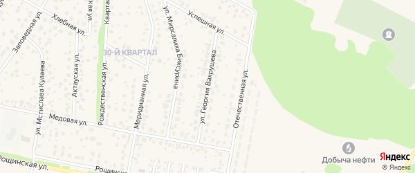 Улица Георгия Вахрушева на карте села Нагаево с номерами домов