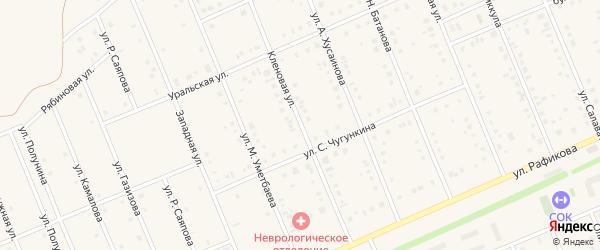 Кленовая улица на карте села Кармаскалы с номерами домов