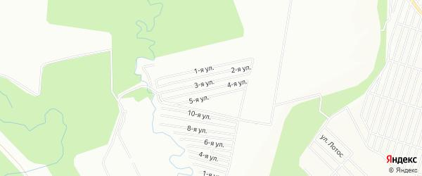 СНТ Калинка на карте Уфы с номерами домов