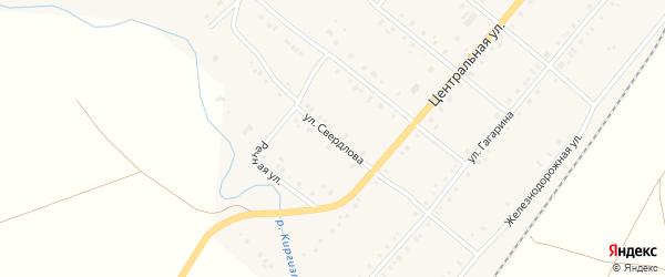 Улица Свердлова на карте села Покровки с номерами домов