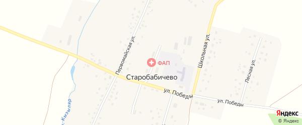 Лесная улица на карте деревни Старобабичево с номерами домов