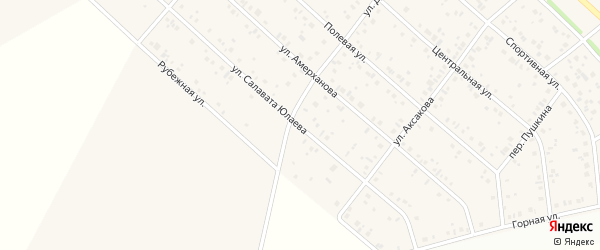 Улица Салавата Юлаева на карте деревни Кабаково с номерами домов