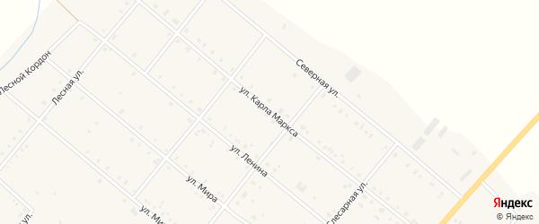 Улица Карла Маркса на карте села Покровки с номерами домов