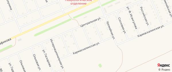Улица Свободы на карте села Кармаскалы с номерами домов