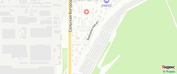Байкальская улица на карте Уфы с номерами домов