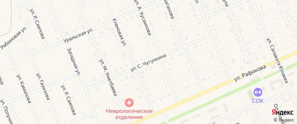 Улица С.Чугункина на карте села Кармаскалы с номерами домов