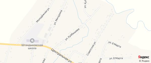 Улица Куйбышева на карте деревни Штанд с номерами домов