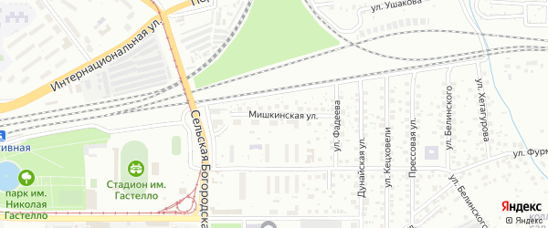 Мишкинская улица на карте Уфы с номерами домов