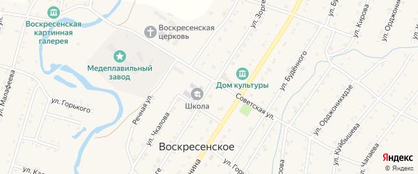 Улица Р.Зорге на карте Воскресенского села с номерами домов