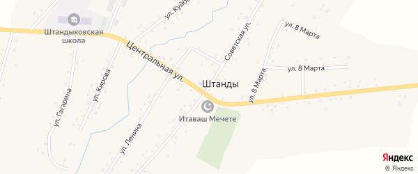 Советская улица на карте деревни Штанд с номерами домов