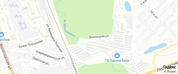 Винницкая улица на карте Уфы с номерами домов