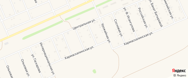 Солнечная улица на карте села Кармаскалы с номерами домов