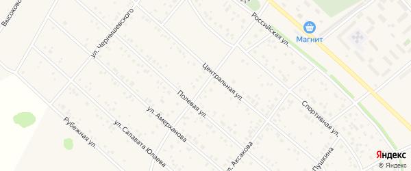 Улица Достоевского на карте деревни Кабаково с номерами домов