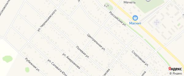 Центральная улица на карте деревни Кабаково с номерами домов