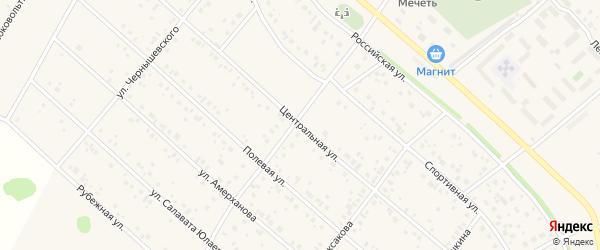 Центральная улица на карте деревни Никитино с номерами домов