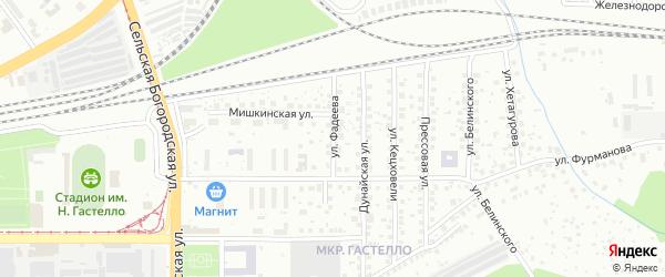 Улица Фадеева на карте Уфы с номерами домов