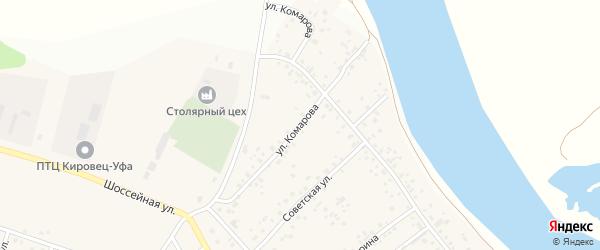Улица Комарова на карте деревни Кабаково с номерами домов