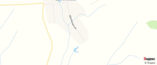 Карта Саннинского села в Башкортостане с улицами и номерами домов