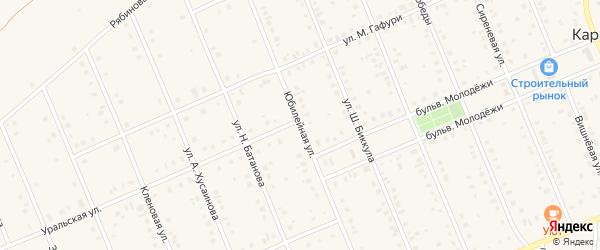 Юбилейная улица на карте села Кармаскалы с номерами домов