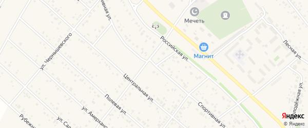Спортивная улица на карте деревни Кабаково с номерами домов
