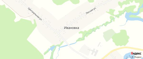Улица Чапаева на карте деревни Ивановки с номерами домов