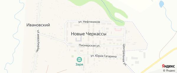 Квартал Строителей на карте поселка Новые Черкассы с номерами домов