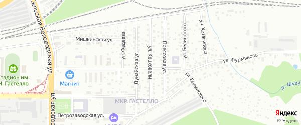 Улица Кецховели на карте Уфы с номерами домов