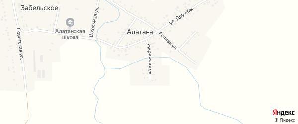 Овражная улица на карте села Алатаны с номерами домов