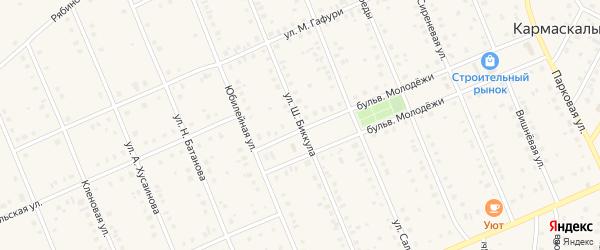 Улица Ш.Биккула на карте села Кармаскалы с номерами домов