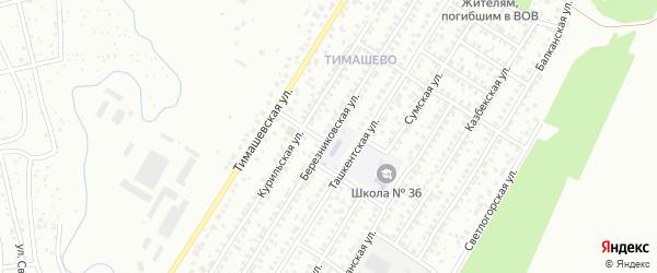 Березниковская улица на карте Уфы с номерами домов