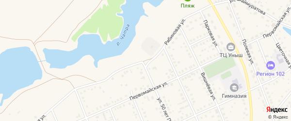 Рябиновая улица на карте села Кармаскалы с номерами домов