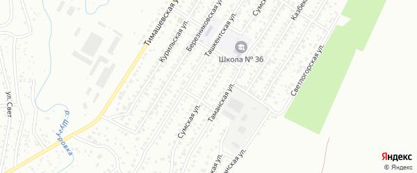 Сумская улица на карте Уфы с номерами домов