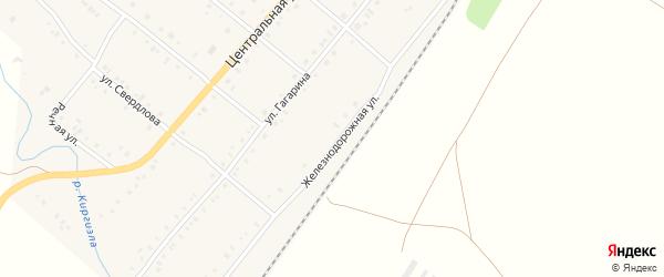 Железнодорожная улица на карте деревни Покровки с номерами домов