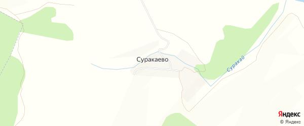 Карта хутора Суракаево в Башкортостане с улицами и номерами домов